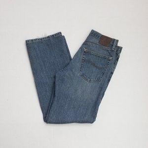 Lee Men Relaxed Straight Legs Blue Denim Jeans